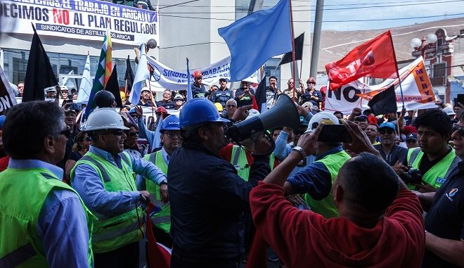 Histórica marcha de Asinda y Trabajadores Para decir No al Plan Regulador